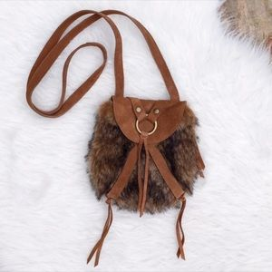 LUCKY BRAND Taluca Faux Fur Crossbody Swing Bag-